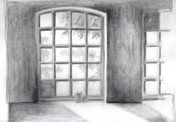 Fenster in der alten Schmiede